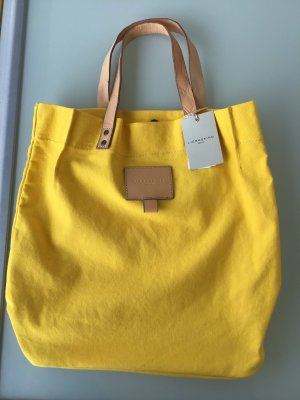 Liebeskind Berlin Canvas Bag yellow acetate