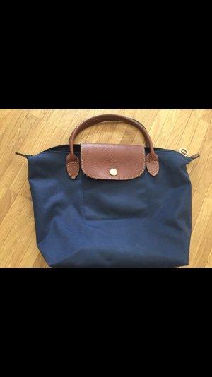 Longchamp Sac Baril bleu foncé