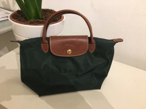 Tasche Longchamp Le Pliage S dunkel grün