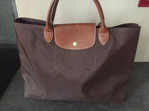 Longchamp Borsa shopper marrone scuro-marrone chiaro
