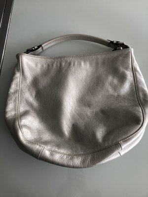abro Shoulder Bag silver-colored leather
