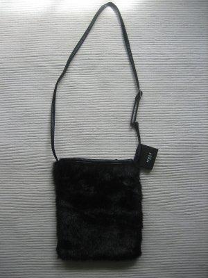 tasche maxx neu kunstfell schwarz elegant