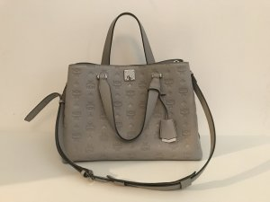 MCM Shopper grey leather