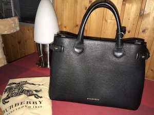 Burberry Carry Bag black leather