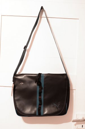 Tasche MINI by Puma Shoulder Bag dunkelblau, türkis, Schultertasche, Leder