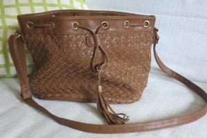 Shoulder Bag cognac-coloured imitation leather