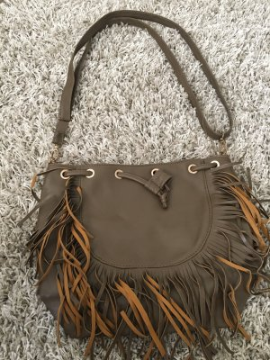 Fringed Bag bronze-colored