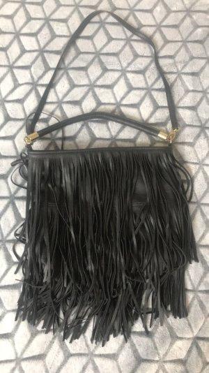 H&M Fringed Bag black