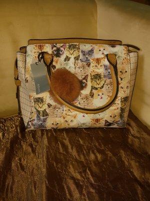 Handbag multicolored polyurethane