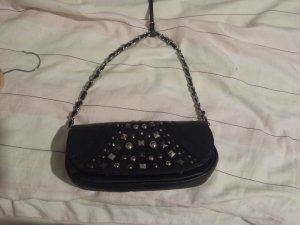 Tasche mit Nieten, schwarz, gebraucht
