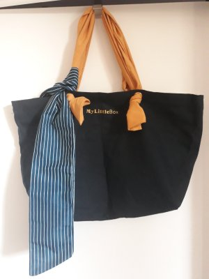 my little box Canvas Bag blue-gold orange