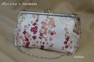 """Tasche mit Spangenrahmen, """"Wehen"""", Handtasche mit Kirschblüten"""