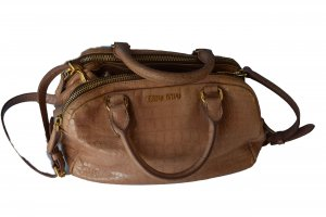 Miu Miu Carry Bag beige leather