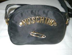 Tasche Moschino schwarz verstellbare goldf. Buchstaben Umhängetasche Handtasche
