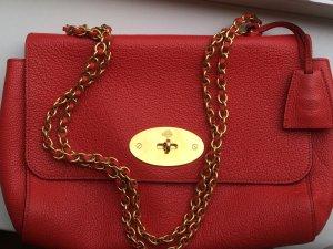 Mulberry Bolso tipo pochette rojo Cuero