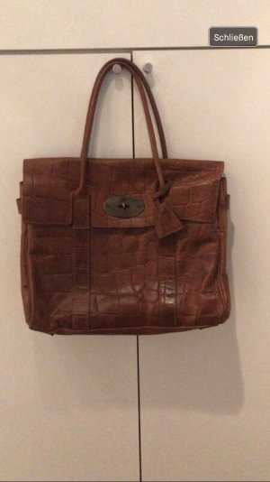 Mulberry Handbag cognac-coloured