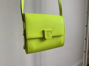 Nina Peter Mini sac jaune fluo cuir