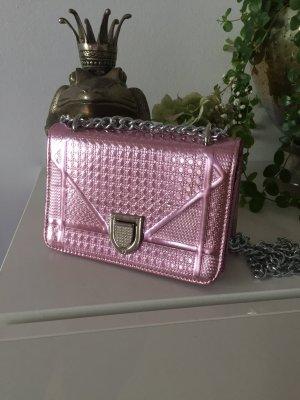 Tasche rosa metallic Silber NEU