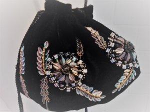 Tasche samt Beutel Neu von Hallhuber schwarz Extravagant