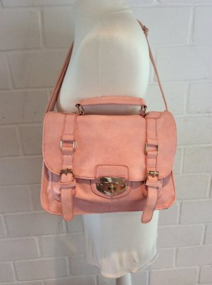 Satchel pink-pink imitation leather