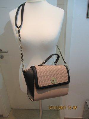 Tasche, Schulter tasche, Tolle Umhaengetasche im Designerstil nude schwarz Crossbody oder Umhaengetasche