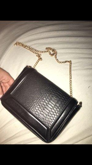H&M Shoulder Bag black-gold-colored