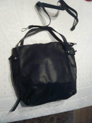 Tasche schwarz aus Leder