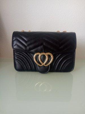 Handtas zwart-goud