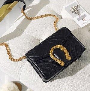 Tasche schwarz Gold Neu