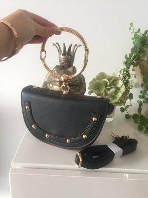 Tasche schwarz Gold Ring Henkel NEU