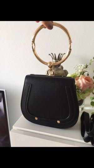 Tasche schwarz Gold Ring neu