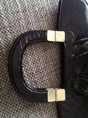 Tasche schwarz H&M lacklederoptik