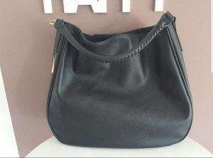Tasche schwarz mit 2 verschiedenen Lederoptik
