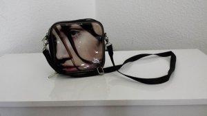 Tasche schwarz mit Frauenbild zum Umhängen