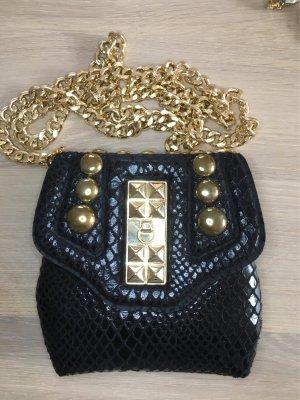 Tasche schwarz mit goldenen Details
