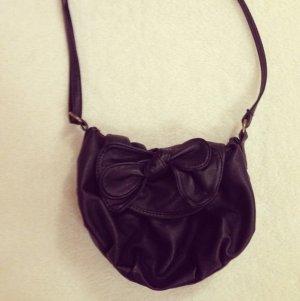Tasche, schwarz, Pimkie, klein, Schleife