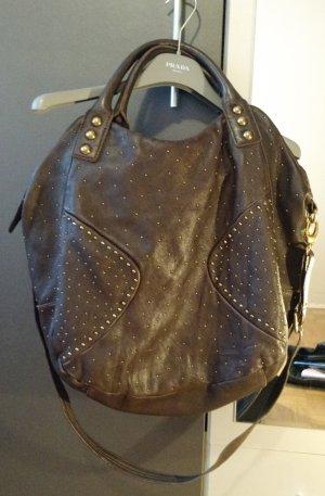 Tasche Shopper Abro braun hobo leder echtleder luxus nieten blogger designer