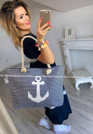 Tasche Shopper Anker Maritim Abendtasche Henkeltasche Kordel Umhängetasche Handtasche + das Kleid verkauf ich auch