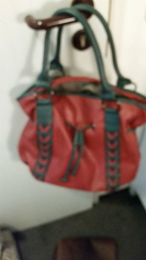 Tasche , Shopper blau , rot