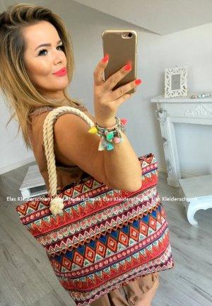 Tasche Shopper Hippie Abendtasche Henkeltasche Kordel Umhängetasche Handtasche
