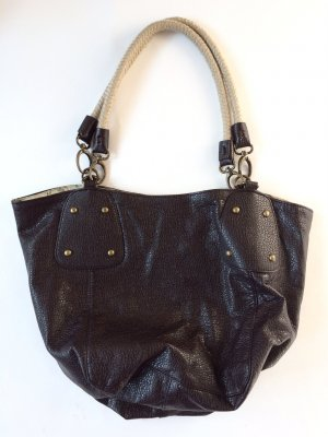 Tasche Shopper mit Tragegriffen braun Damen mit schönem Futter