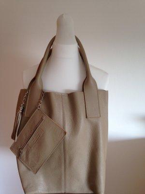 Tasche, Shopper, neu, Leder, in Beige