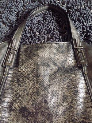 Tasche / Shopper von Gabor in grau / Silber metallic