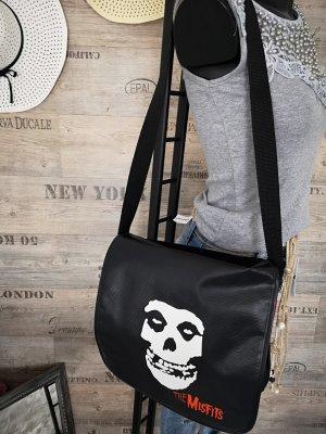 Tasche Skull NEU ✔Totenkopf Misfits Umhängetasche Henkeltasche Handtasche breiter Umhängeriemen
