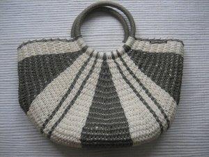 Miss Sixty Bolso tipo cesta gris-blanco