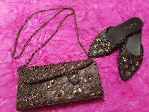 Tasche & Spitze Mules für besondere Anlässe mit Perlen-Stickerei