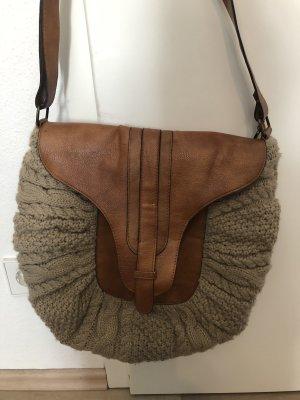 Tasche Strick braun