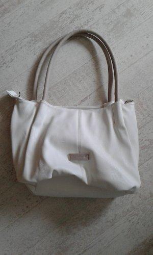Tasche Tamaris weiß/grau/taupe Kunstleder