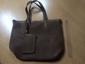 Carry Bag bronze-colored imitation leather