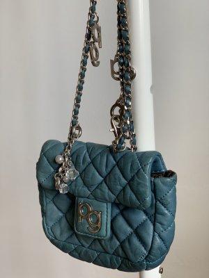 Purificacion Garcia Mini sac bleuet cuir
